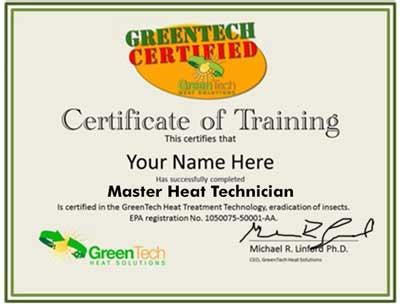 Bed Bug Heat Treatment Reviews by Bed Bug Heat Treatment Certification And Program Greentech Heat Solutions