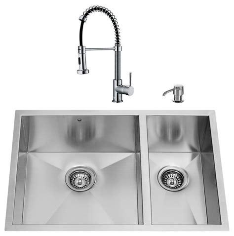 modern kitchen sink faucets vigo industries vigo undermount kitchen sink set 29 quot kitchen sinks houzz