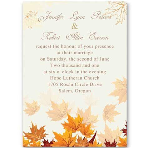 Autumn Birthday Invitations Fall Invitation Templates Free