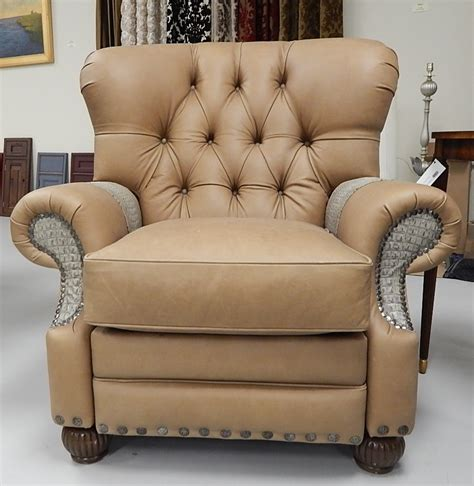 Tufted Leather Recliner Chair by Leather Gator Hide Churchill Tufted Recliner Chair