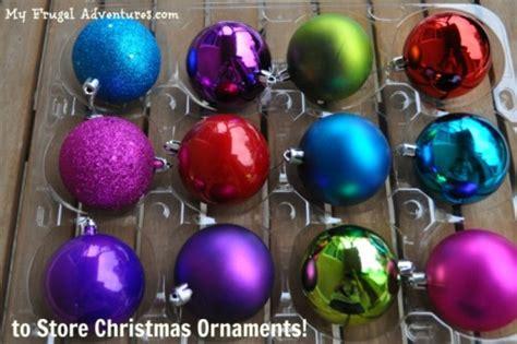 diy christmas ornament storage my frugal adventures