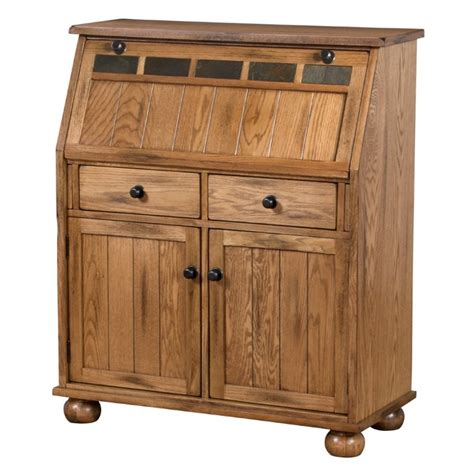 Rustic Oak Computer Desk by Designs Sedona Drop Leaf Computer Desk In Rustic Oak