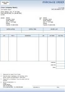 template for a purchase order 5 purchase order templates excel pdf formats