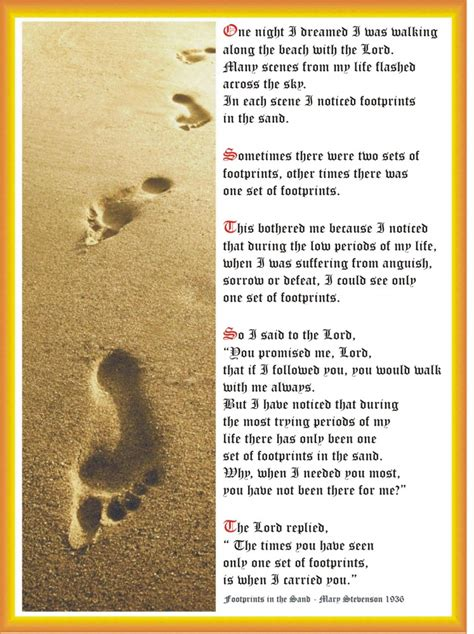 printable version footprints in the sand poem printable version www