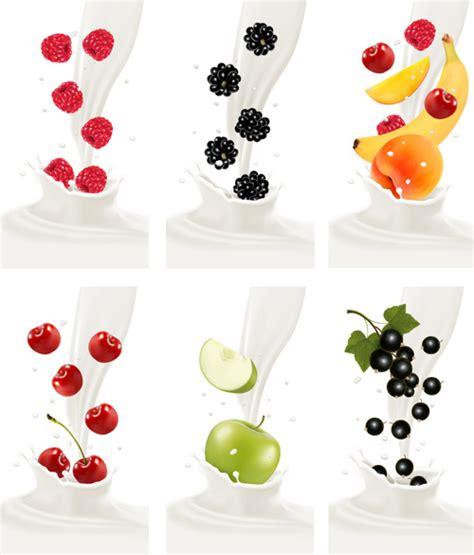 fruit milk fruit milk advertising banner vector graphics free vector