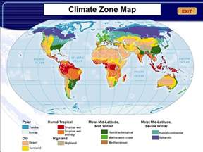 climate zone map climate and climate change ppt