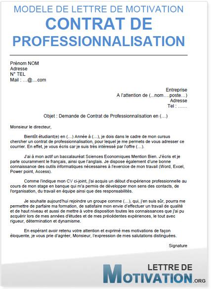 Lettre De Motivation Ecole Formation En Alternance lettre de motivation contrat d apprentissage