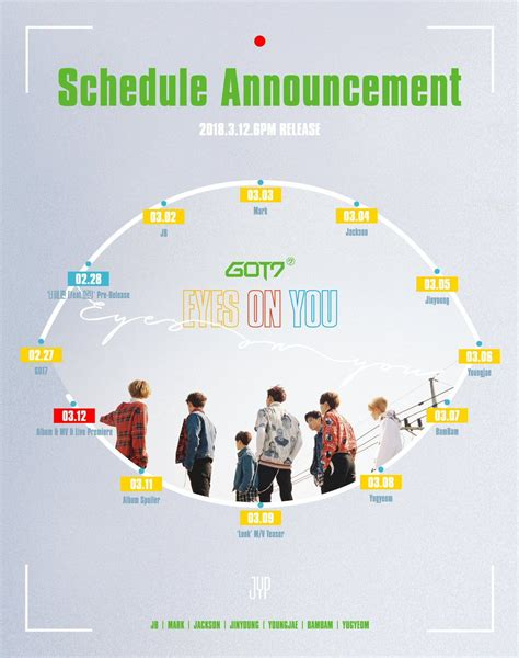 got7 eyes on you update got7 shares preview of newest mini album eyes on