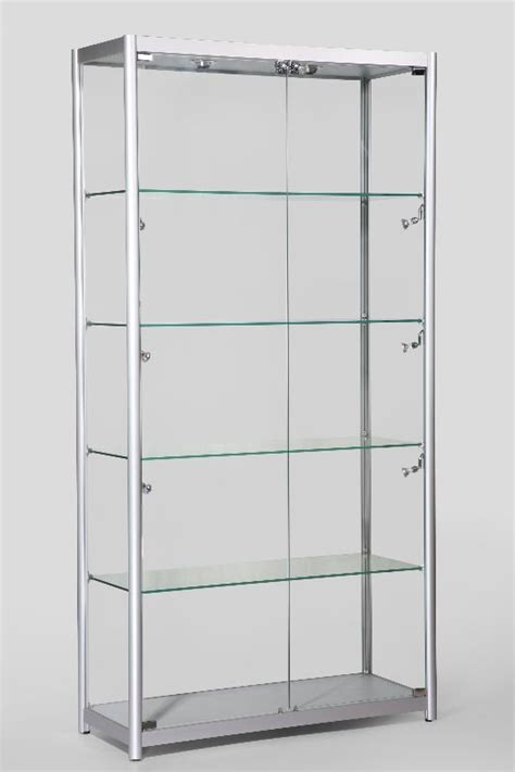 free standing display cases aluminum profiles tempered