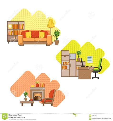 interior stuff set of interior stuff royalty free stock photo cartoondealer com 37995015
