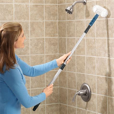 bathroom scrubber brush handle bath tub cleaner