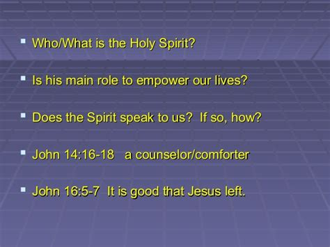 the holy spirit comforts us sermon and power point the role of the holy spirit in our