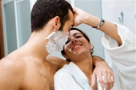 couples in bathroom his gear her gear the bath and body essentials