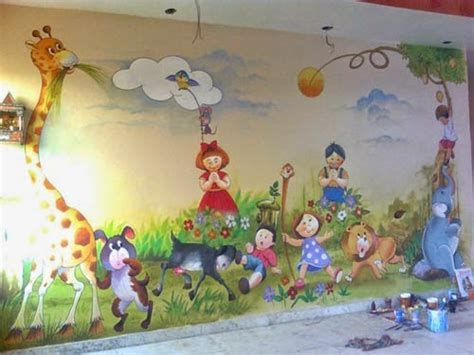 painting for school play school wall painting 3d wall painting