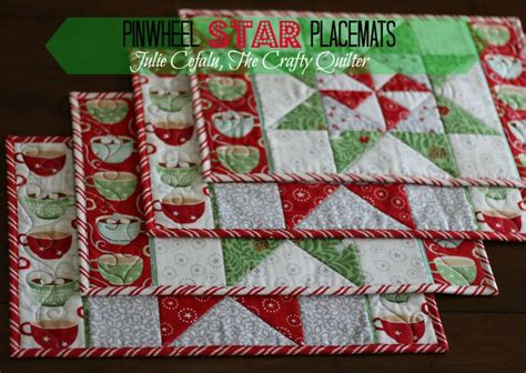 Christmas in August: Pinwheel Star Table Runner, Placemats