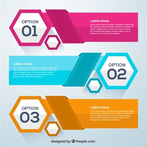 infographic options elements vector free