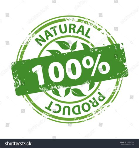 Green Rubber Stamp Text Natural Product Stock Vector 142727650   Shutterstock