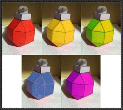 Papercraft Ornaments - ornament template free papercraft