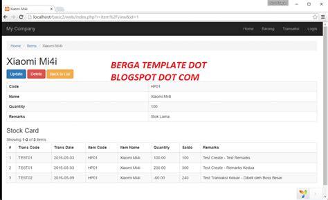 yii2 tutorial pdf bahasa indonesia kumpulan full source code aplikasi web persediaan barang