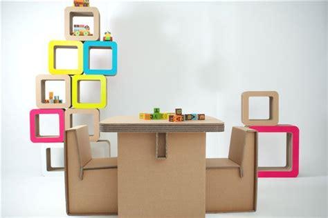 tavolo e sedia per bambini i complementi di arredo di kshop in cartone ondulato