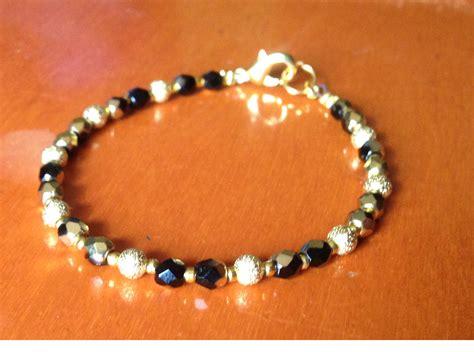 bisuteria con hilo tejido y cristal pulseras cuero y mas pulsera de hilo con bolas ba 241 o oro