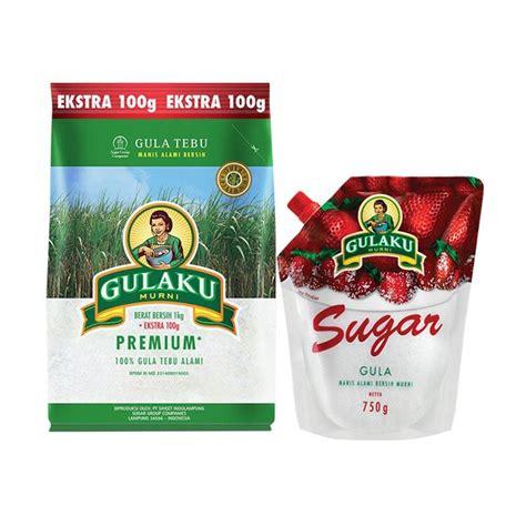 Gula Pasir Gulaku Hijau 1 Kg jual gulaku paket 2 gulaku premium gula pasir 1 1 kg dan gulaku pouch 750 g harga
