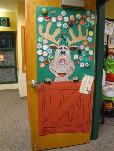 Reindeer Door Decorations by Door Decorating Reindeer Noses Bulletin Board Ideas
