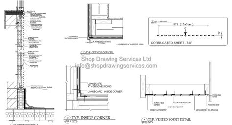 Sketches A Corrugated Bulkhead by Corrugated Sheet Wall Cladding Shop Drawings
