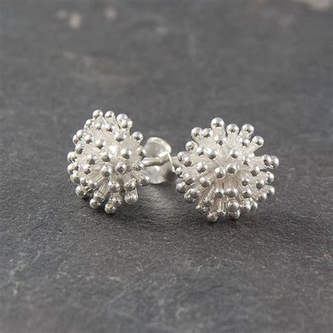 dandelion silver earrings by otis jaxon silver jewellery