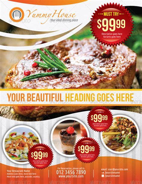 20 Premium Restaurant Flyer Templates To Download Restaurant Ad Template