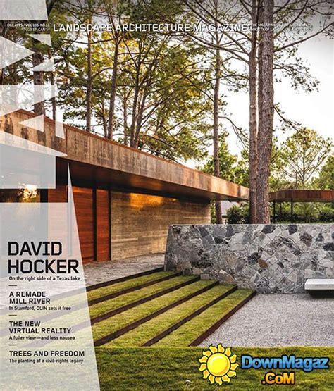 Landscape Architecture Usa Landscape Architecture Usa December 2015 187 Pdf