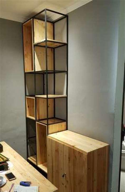 jual partisi ruang  rak buku buffet bahan full kayu