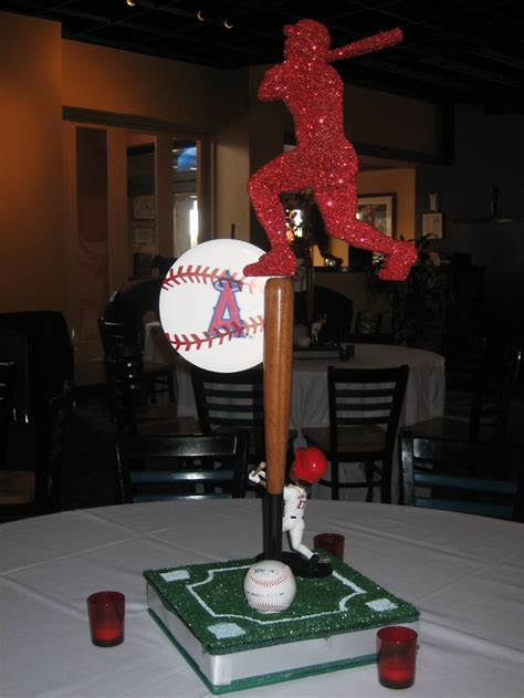 Baseball Themed Centerpiece Sports Party Pinterest Sports Theme Centerpieces