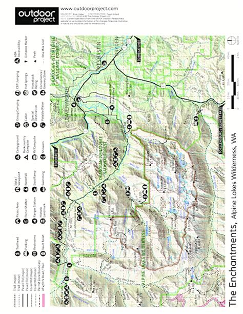 enchantments trail map enchantment lakes hike via colchuck lake hiking in