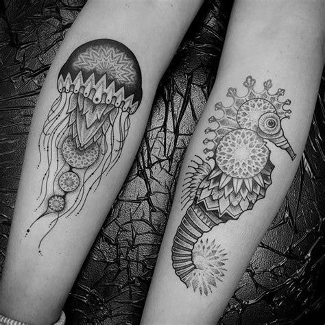 mandala jellyfish tattoo 1337tattoos ben doukakis tattoo ideas pinterest