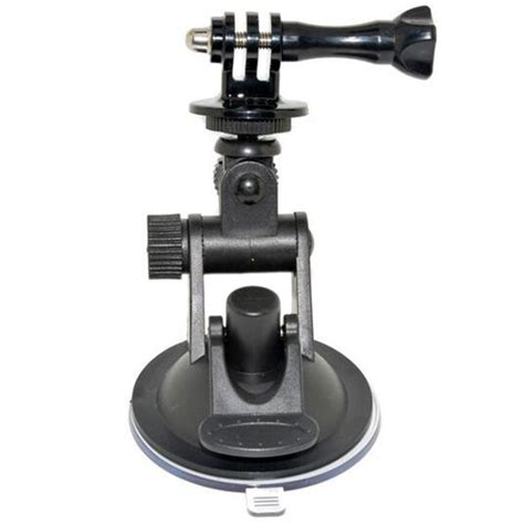 Glass Suction Cup Mount With Go Pro And 1 4 Ballhead Mount go pro car suction cup adapter window glass mount holder