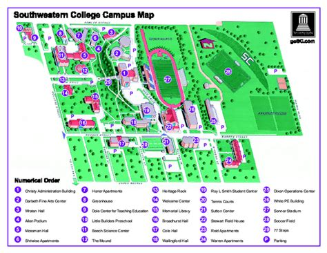 texas tech cus map pdf springfield college cus images