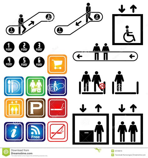 elevator symbol floor plan elevator escalator sign department vector ill stock vector image 43728016