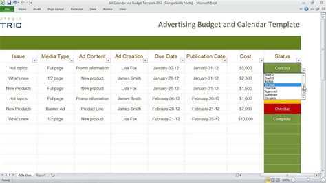 calendar budget template marketing and budget excel sheets excel xlsx templates