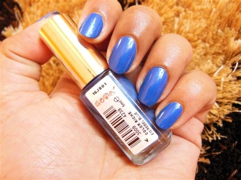 l oreal color riche le vernis nail enamel rebel blue 610 review notd indian