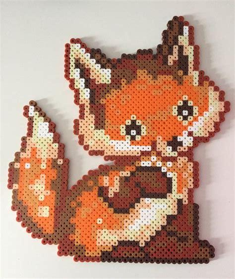 perler bead fox baby fox perler bead baby foxes and etsy