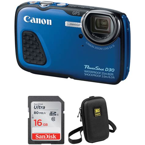 canon waterproof digital canon powershot d30 waterproof digital with free b h