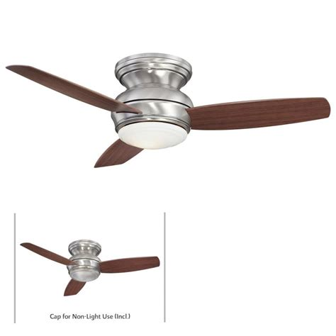 concept 1 ceiling fan minkaaire f593 pw pewter 3 blade 44 quot flush mount indoor