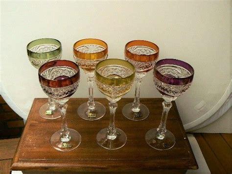 Lustre Verres à Vin by Six Verres 224 Vin En Cristal De Boh 232 Me Avec Lustre En