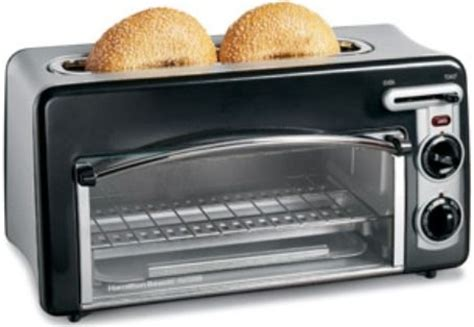 Toaster Oven With Toaster Slots On Top Hamilton 22708h Toastation Toaster Oven Black