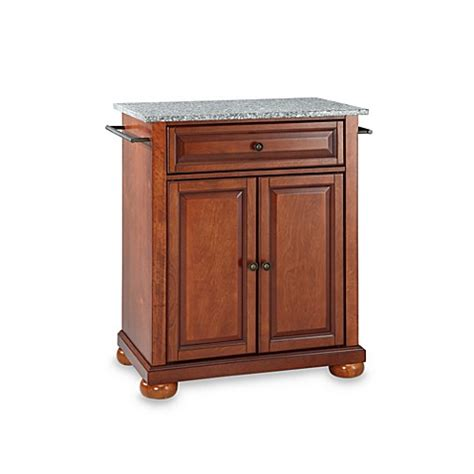 Crosley Alexandria Kitchen Island Buy Crosley Alexandria Granite Top Portable Kitchen Island In Cherry From Bed Bath Beyond