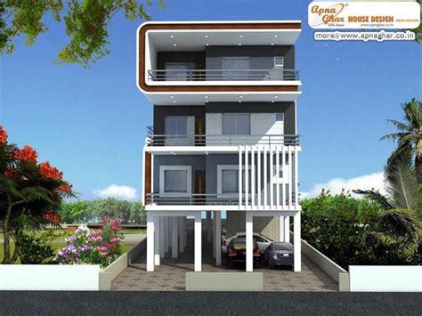 3 floor house design 3 bedrooms independent floor design in 408m2 12m x 34m