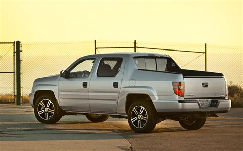 honda truck 2012 honda ridgeline rear three quarters photo 3