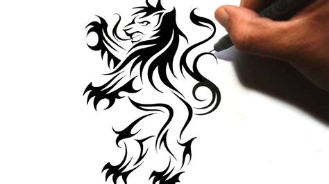 english lion tattoo designs tribal lions drawings