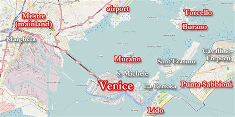 map of islands and surrounding area tips on visiting venice and the surrounding islands